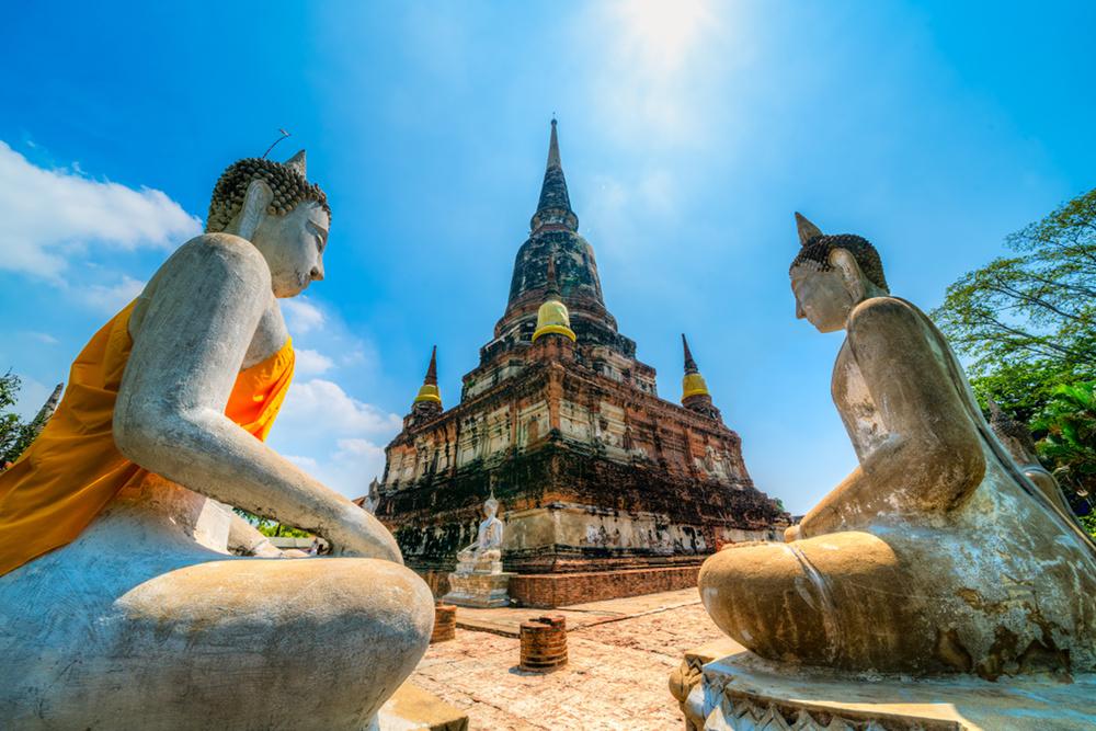 Phra Maha Chedi Chai Mongkhon temple in Thailand