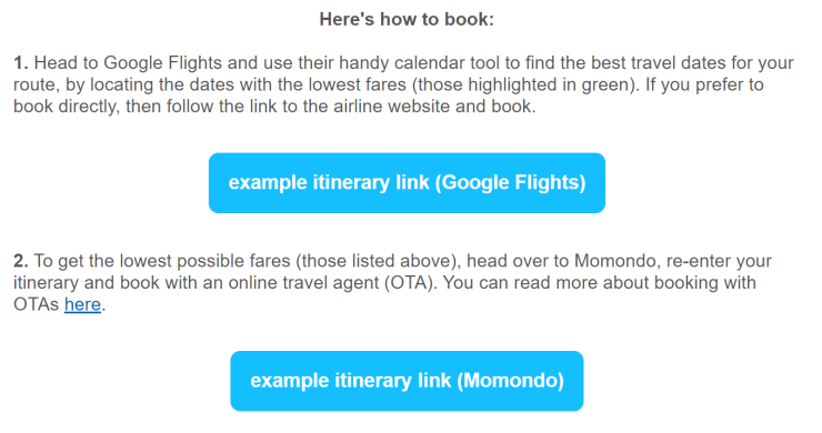 Email Example How to Book