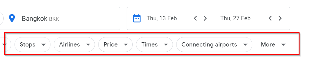 google-flights-filters