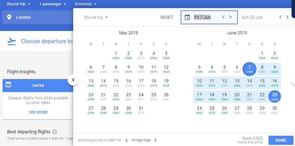 google-flights-calendar
