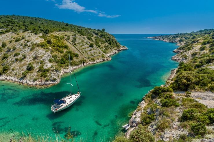 Croatia boat beach