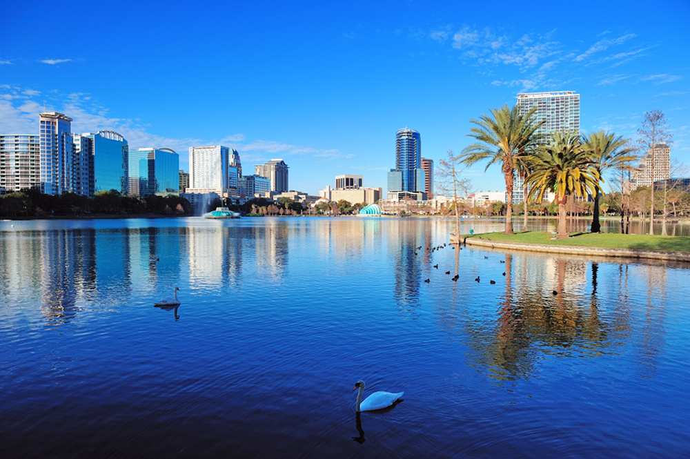 Orlando park and skyline