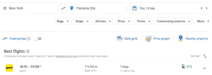 New York Panama City