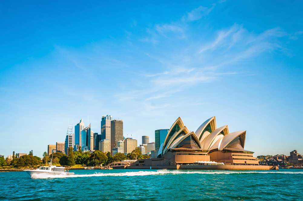 Sydney opera and skyline