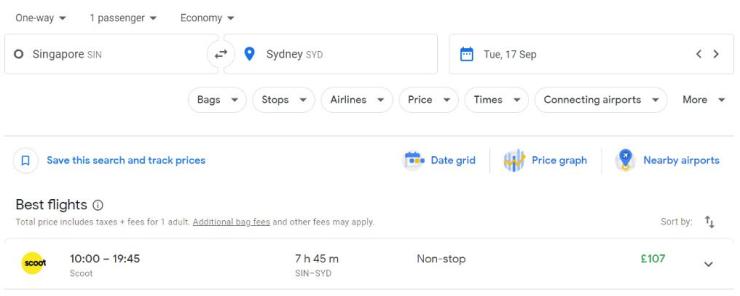 Singapore Sydney