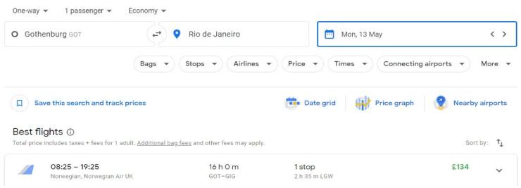 Gothenburg Rio Janeiro
