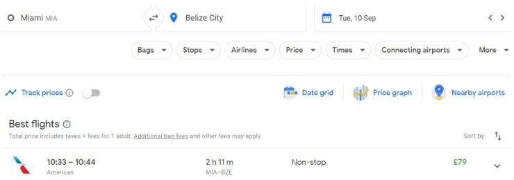 Miami Belize City