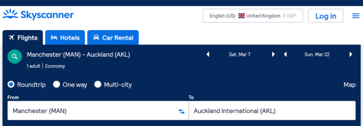 Manchester-Auckland example